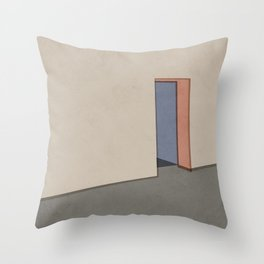 Empty Room no.04 - Lonely Spaces Throw Pillow