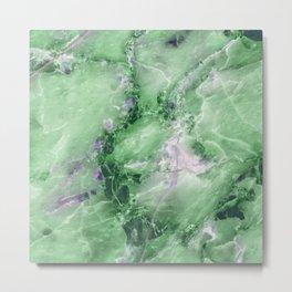 Jade Marble Metal Print