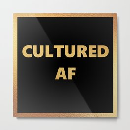 Cultured AF Metal Print