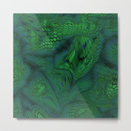 green iguana Metal Print