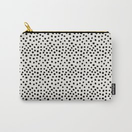 Preppy brushstroke free polka dots black and white spots dots dalmation animal spots design minimal Tasche