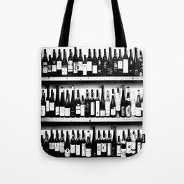 Wine Bottles in Black And White #decor #society6 #buyart Tote Bag