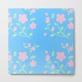 Pink Flower Backgroud Metal Print