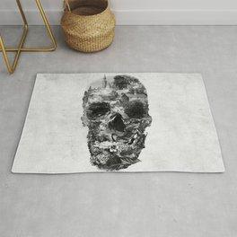 Town Skull B&W Rug