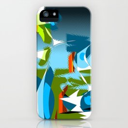 """Madrone Candea - """"Robots From The Sea Take Out The Trash"""" iPhone Case"""