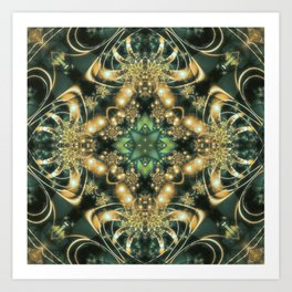 Spiders from Mars in Green Art Print