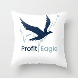Eagle Money Share Finance Throw Pillow