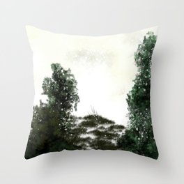Snow is here to stay Throw Pillow