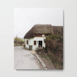 Thatched Cottage in the English Countryside Metal Print