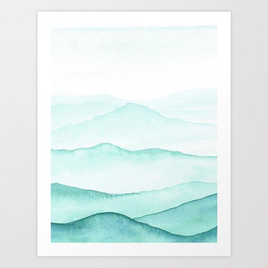 Mint Mountains by laurafrere