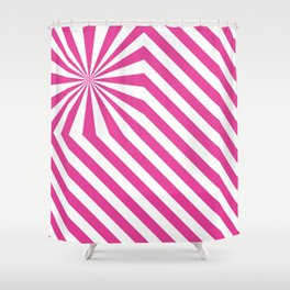 Stripes explosion - Pink Shower Curtain