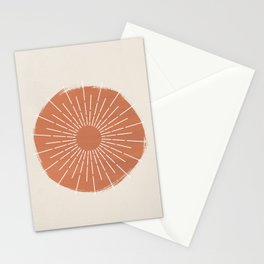 Abstract terracotta Sun  Stationery Cards
