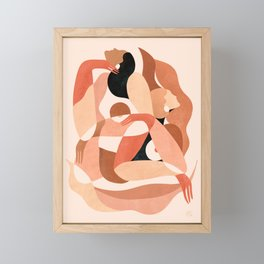 Abstract figures ||| Framed Mini Art Print