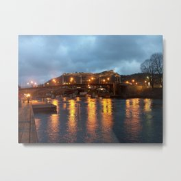 Halden with the Fredriksten fortress, Norway Metal Print
