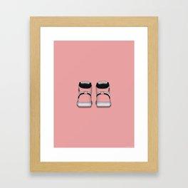 Rust Pink Print Framed Art Print