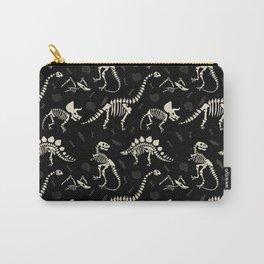 Dinosaur Fossils on Black Tasche