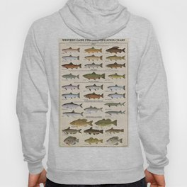 Illustrated Western Game Fish Identification Chart Hoody