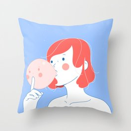 46: shh Throw Pillow