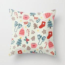 Hygge Christmas Time Throw Pillow