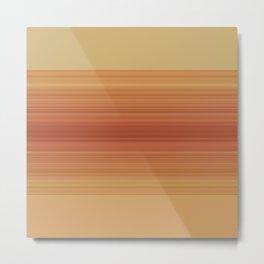 Orange Sunset Stripe Design Metal Print