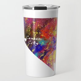 Carson city love heart  Quote Art Design Inspira Travel Mug