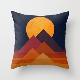 Full moon and pyramid Throw Pillow