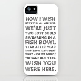 Wish you were here iPhone Case