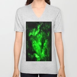 Envy - Abstract In Black And Neon Green Unisex V-Neck
