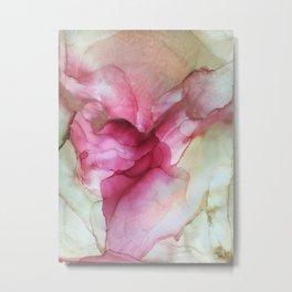 Fluid Rose Metal Print