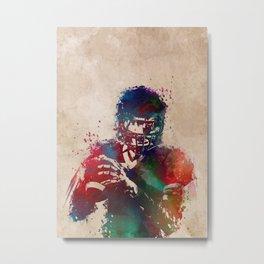 American football player 3 Metal Print