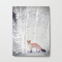 FOX FOX FOX Metal Print