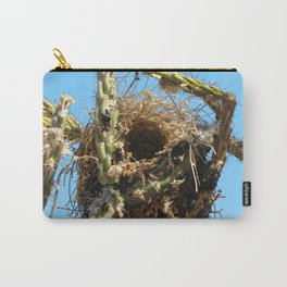 Watercolor Nest, Nest 01, in Cactus Walking Stick, Ventana Canyon, Arizona Carry-All Pouch