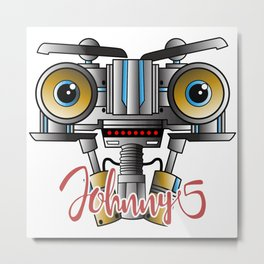 Johnny 5 Short Circuit Metal Print