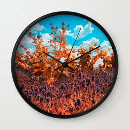 Meditation in the meadow Wall Clock