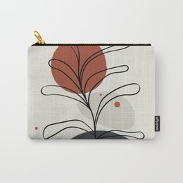 Abstract Minimal Shapes Plants 06 Tropical Modern Illustration Drawing Pattern Texture Carry-All Pouch