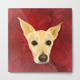 Puppy Love - White Pooch Cute Portrait Metal Print