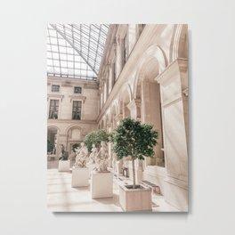 Paris Louvre Museum Metal Print