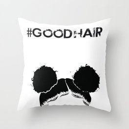 #GOODHAIR - Puffs Throw Pillow