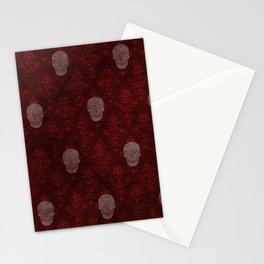 Victorian Skulls Red Stationery Cards