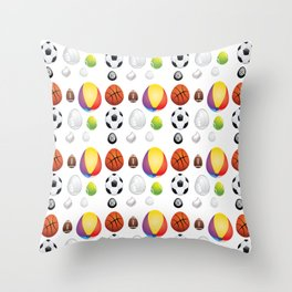 Easter sport balls Throw Pillow