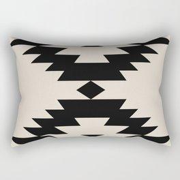 Southwestern Minimalism - Black Rectangular Pillow