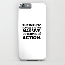 The path to success iPhone Case