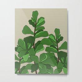 Fiddle Leaf Fig Metal Print