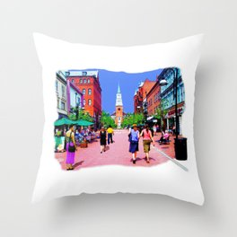 Vermont Street Painting Throw Pillow