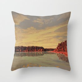 Prince Albert National Park Throw Pillow