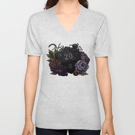 Drow D20 - Tabletop Gaming Dice Unisex V-Neck