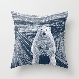 bear factor Throw Pillow