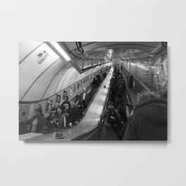 faceless escalators Metal Print