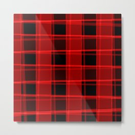 Bright intersections of light and bloody lines on a dark background. Metal Print