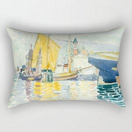 "Henri-Edmond Cross ""Venice - The Giudecca"" Rectangular Pillow"